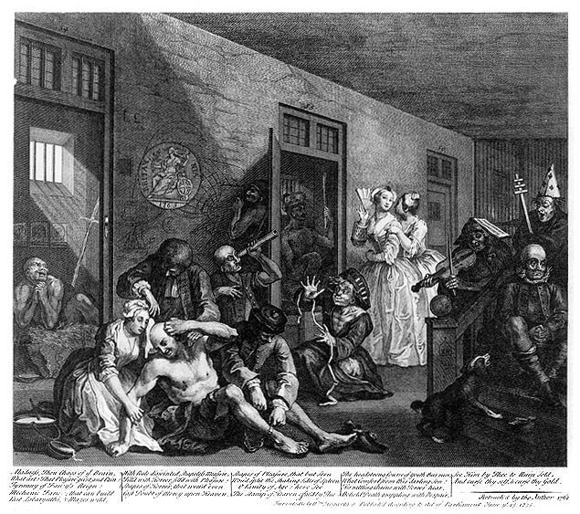 Insanity in the Family - Kathy Chater talk. William Hogarth - A Rake's Progress - The Mad House